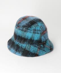 <MACKINTOSH> SHAGGY CHECK BUCKET HAT/ハット Ψ