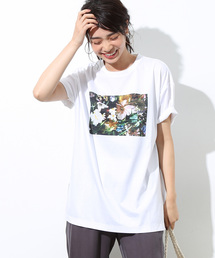 ROPE'(ロペ)のエデンワークスロペプリントチュニック(Tシャツ/カットソー)