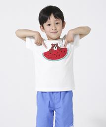 【coen キッズ / ジュニア】コーエンベア がぎ針編みTシャツ (100〜150cm)