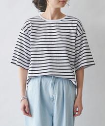 MAISON DE REEFUR(メゾンドリーファー)のボーダー ドルマン Tシャツ(Tシャツ/カットソー)