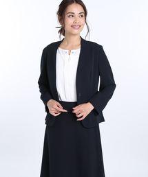 パリネクールドッツ m.f.エディトリアル セットアップ1釦七分袖ジャケット (m.f.editorial) 紺/
