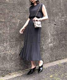 AMERI(アメリ)のPLEATS STITCH DRESS(ドレス)