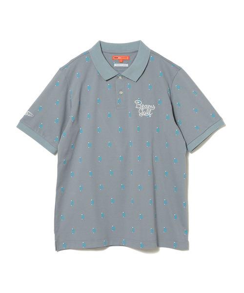 <MEN'S>BEAMS GOLF ORANGE LABEL / BT総柄 ポロシャツ