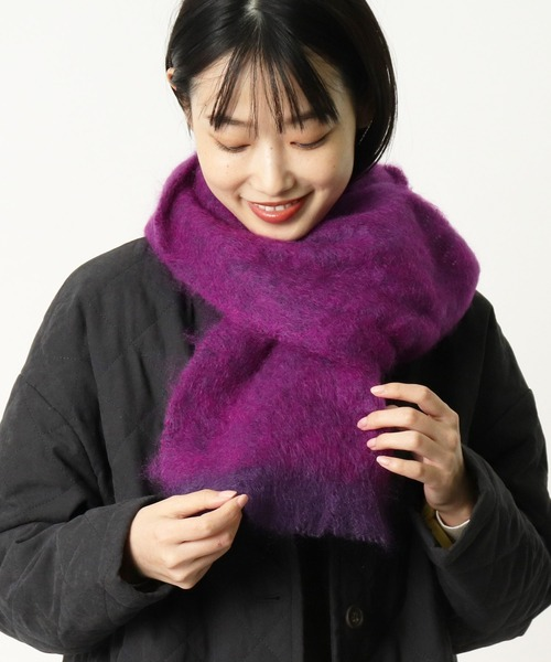 【 CUSHENDALE / カシュヘンデール 】 BRUSHED MOHAIR SCARF・・