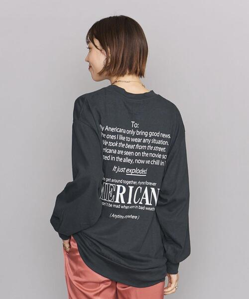 <Americana(アメリカーナ)>ロングスリーブ Tシャツ -ウォッシャブル-