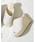 Re:EDIT(リエディ)の「オープントゥウェッジジュートサンダル(サンダル)」|ホワイト