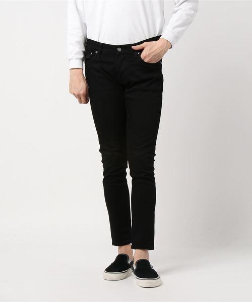 Nudie Jeans(ヌーディージーンズ)の「Tight Terry / Deep Black (レングス30)(デニムパンツ)」 ブラック