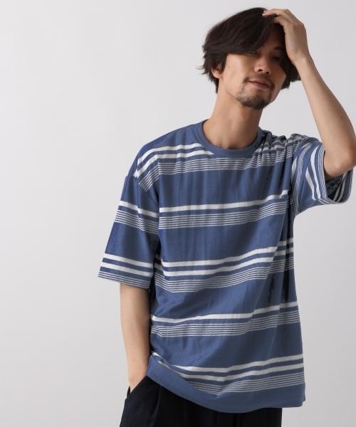 ナシジボーダーTシャツ/801670