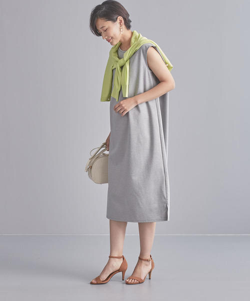 【WORK TRIP OUTFITS】BC コットンカルゼ ノースリーブ ワンピース