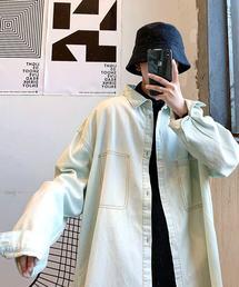 neos(ネオス)の【neos -addictive design-】ビッグシルエット ステッチ ポケット デニムシャツ(シャツ/ブラウス)