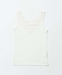abahouse mavie(アバハウスマヴィ)のecru 【2WAY】レースタンクトップ(Tシャツ/カットソー)