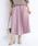 DouDou(ドゥドゥ)の「プリーツサテンスカート(スカート)」|ピンク