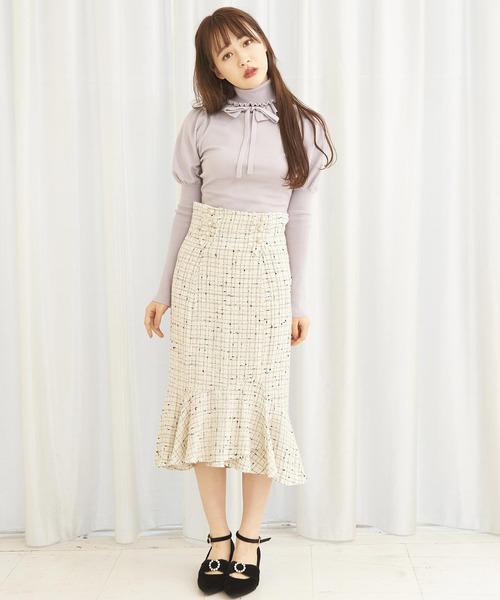 デザインタブツイードマーメイドスカート