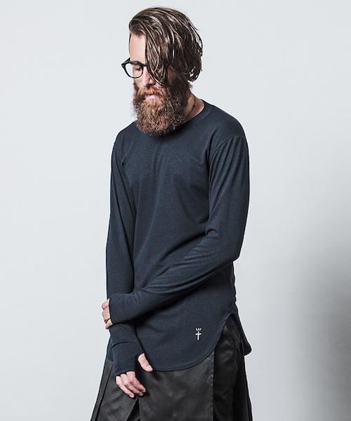 CHORD NUMBER EIGHT(コードナンバーエイト)の「LONG CUTSEW(Tシャツ/カットソー)」|ネイビー