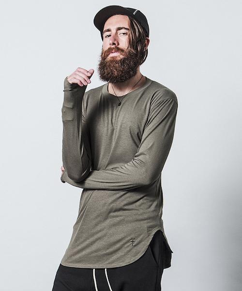 CHORD NUMBER EIGHT(コードナンバーエイト)の「LONG CUTSEW(Tシャツ/カットソー)」|カーキ