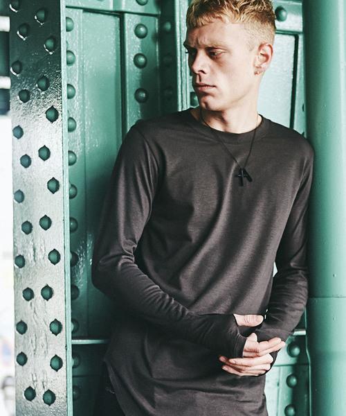 CHORD NUMBER EIGHT(コードナンバーエイト)の「LONG CUTSEW(Tシャツ/カットソー)」|ダークカーキ