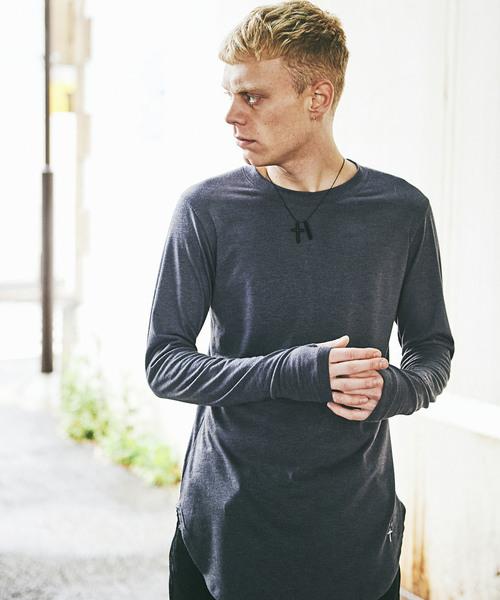 CHORD NUMBER EIGHT(コードナンバーエイト)の「LONG CUTSEW(Tシャツ/カットソー)」|チャコールグレー