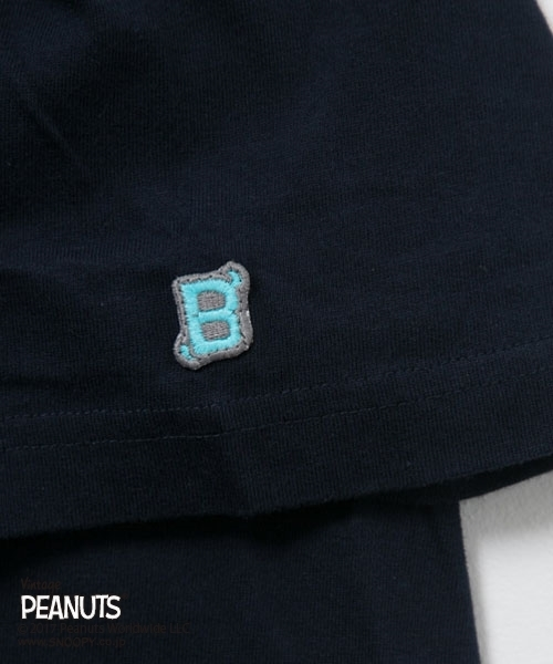 PINEAPPLE BETTY'S パイナップルベティーズ × Peanuts ピーナッツ コラボ半袖プリント ポケットTシャツ PBT-007