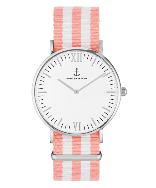 【通販激安】 【セール】【KAPTEN&SON】シルバー 36mm ホワイト ナイロンバンド(腕時計) KAPTEN&SON(キャプテンアンドサン)のファッション通販, 千種区:e4065f88 --- pyme.pe