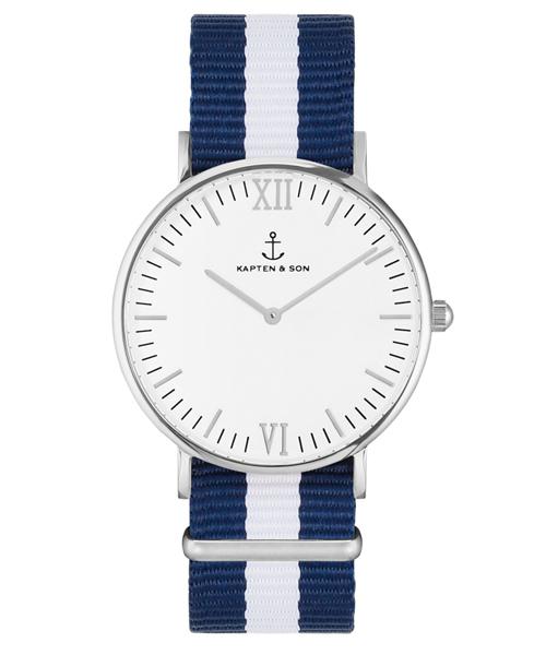 【限定特価】 【セール】【KAPTEN&SON】シルバー 36mm ホワイト ナイロンバンド(腕時計)|KAPTEN&SON(キャプテンアンドサン)のファッション通販, 憩いの店オアシス:f0da6e60 --- pyme.pe