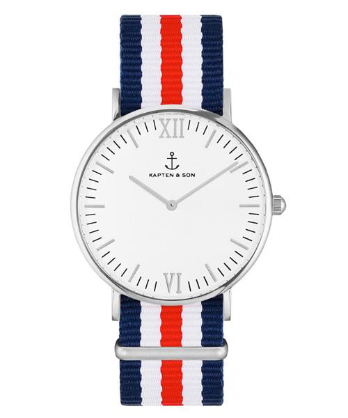 大特価 【セール】【KAPTEN&SON】シルバー 36mm ホワイト ナイロンバンド(腕時計)|KAPTEN&SON(キャプテンアンドサン)のファッション通販, FIT LIFE:aed4be28 --- pyme.pe