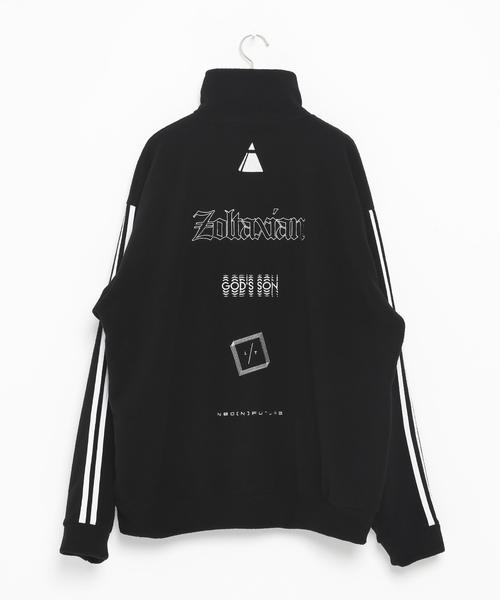 Embroidery Half Zip 2line フリーストップス