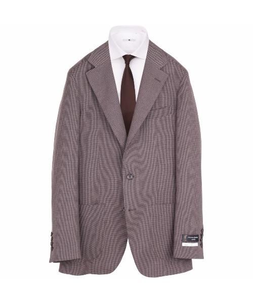 【CLASSICO TAPERED】リネンブレンド3釦段返りジャケット