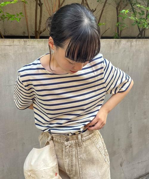 【 SAINT JAMES / セントジェームス 】LEVANT MODERN レヴェンドモダン ボートネック Tシャツ 半袖 9863