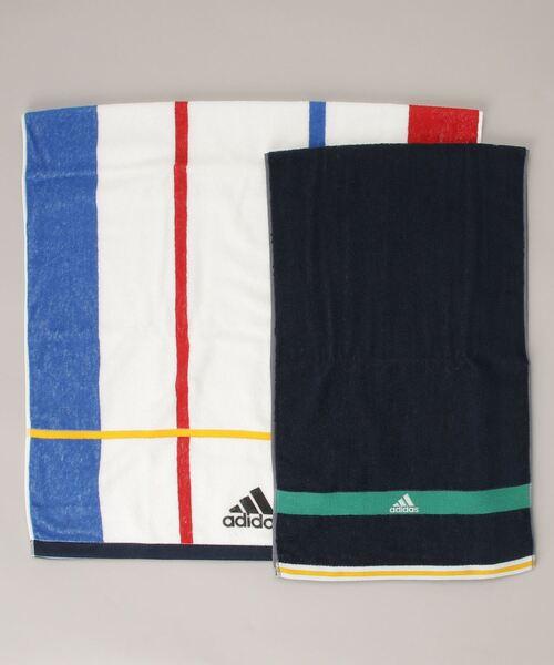 【 adidas / アディダス 】 スポーツタオル バスタオル 2点セット 063639400B TOB