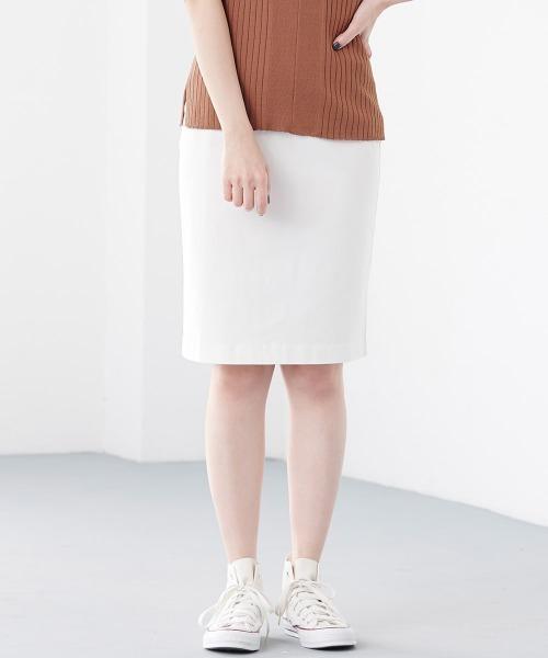Ranan(ラナン)の「ウルトラストレッチスカート(スカート)」|ホワイト