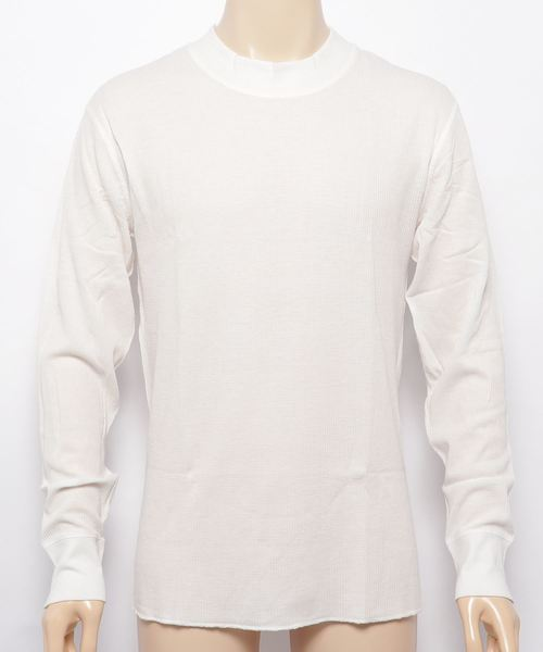 【HealthKnit/ヘルスニット】ベーシックワッフルモックネック長袖Tシャツ 603L SIP