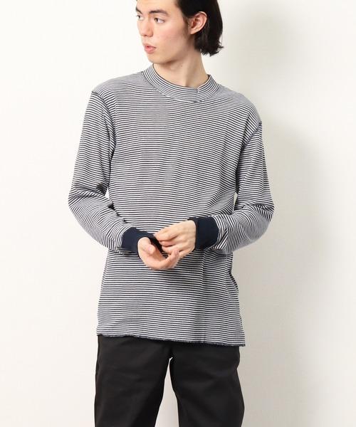 【 HealthKnit / ヘルスニット 】ベーシックワッフルモックネック長袖Tシャツ 603L SIP