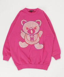 HYS BEAR刺繍 スウェット【L】ピンク