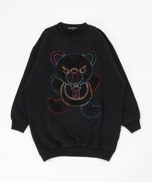 HYS BEAR刺繍 スウェット【L】ブラック