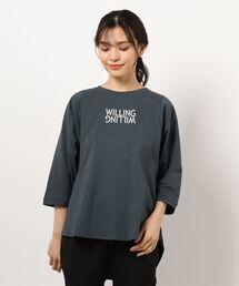 【THE CHIC】オーガニックコットンロゴヘムTシャツチャコールグレー