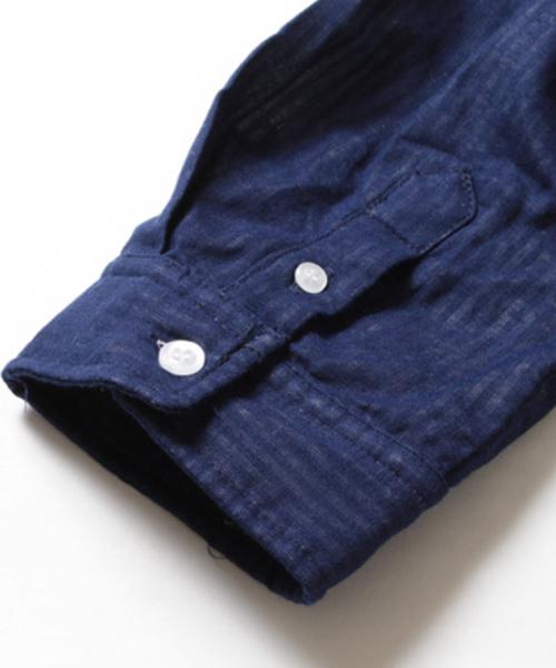 ダブルガーゼ長袖フードシャツ