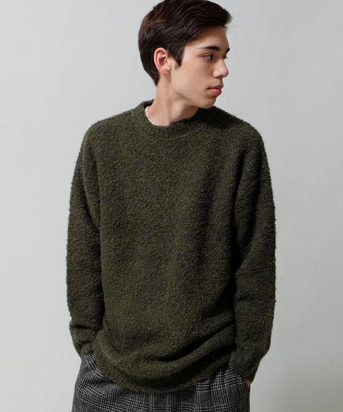 3Gブークレニットクルーネックセーター