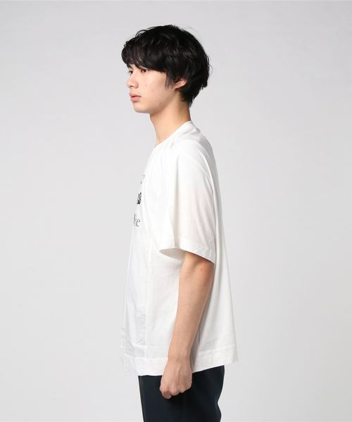 Over-sized strictry printed T-shirt