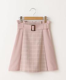 OLIVE des OLIVE(オリーブデオリーブ)のパッチワークミニスカート(スカート)
