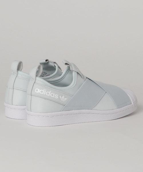 adidas アディダスオリジナルス SS SLIP ON W スーパースタースリッポン EE9430 19SP ABC-MART限定 *ORG/ORG