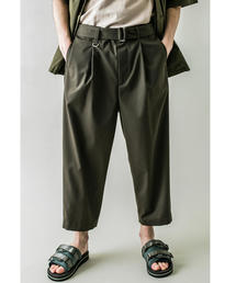 <monkey time> TR TWILL BELTED WIDE ANKLE/アンクルパンツ