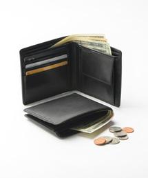 717098fdf726 MURA(ムラ)の牛本革レザー 隠しポケット付 スリム 二つ折り財布(財布