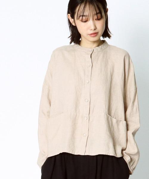 【 D*g*y / ディージーワイ 】 # リネンオックススタンドシャツ D8152R28