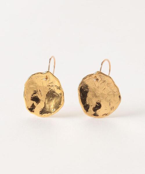 <Preek>U-KIN COIN HOOK EARRINGS GOLD PLATED/ピアス