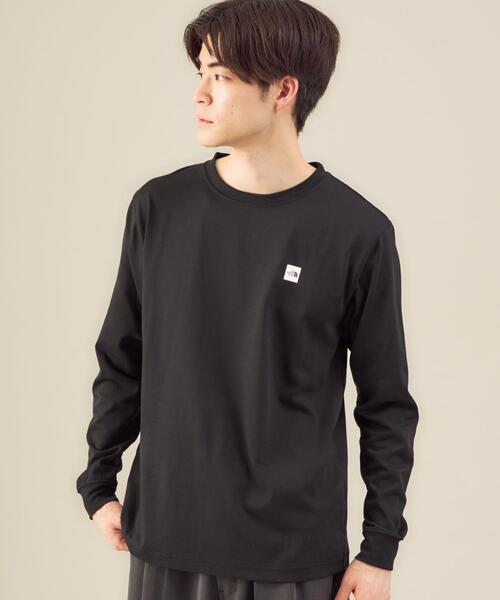 [ ザ ノースフェイス ] THE NORTH FACE スモール ボックス ロゴ Tシャツ ロンT