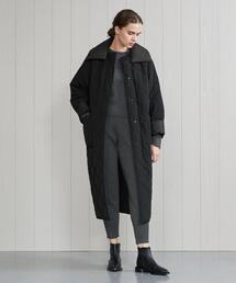 <H>QUILTED LONG COAT/コート