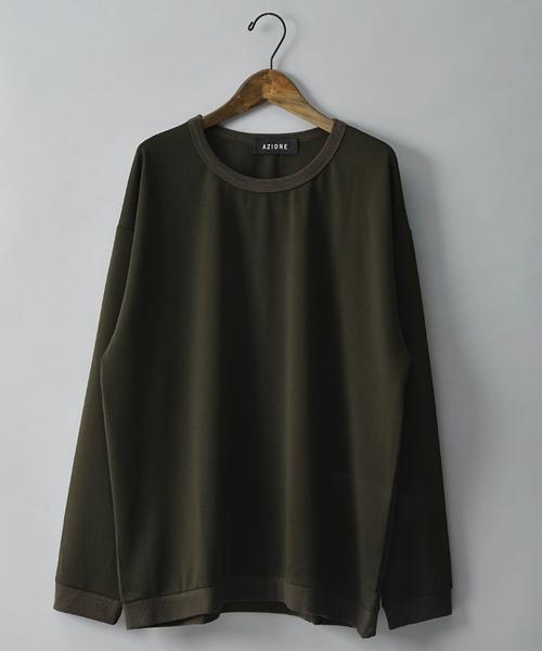 AZIONE/アジオネ/長袖ビッグTシャツ