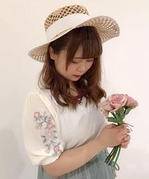 袖刺繍プルオーバー(Tシャツ/カットソー)