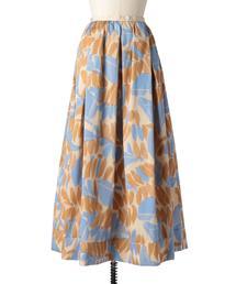 Drawer カモフラージュギャザースカート