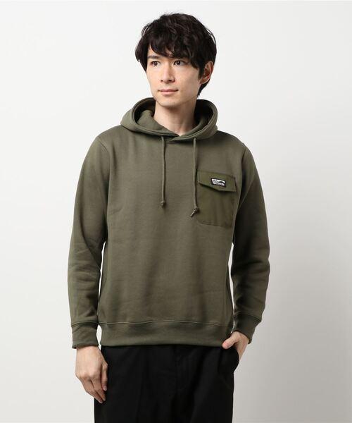 極暖ポケットプルパーカー ヘビーウェイト生地 裏起毛 ルーズシルエット/オーバーサイズ ブランドロゴ